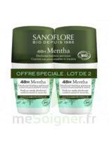 Sanoflore Déodorant 48h Mentha 2roll-on/50ml à St Jean de Braye