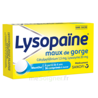 LysopaÏne Comprimés à Sucer Maux De Gorge Sans Sucre 2t/18 à St Jean de Braye