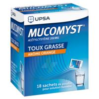 MUCOMYST 200 mg Poudre pour solution buvable en sachet B/18 à St Jean de Braye