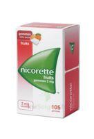 Nicorette 2 Mg Gomme à Mâcher Médicamenteuse Sans Sucre Fruits Plq/105 à St Jean de Braye