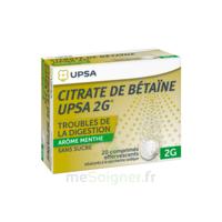 Citrate De Bétaïne Upsa 2 G Comprimés Effervescents Sans Sucre Menthe édulcoré à La Saccharine Sodique T/20 à St Jean de Braye