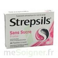 Strepsils Fraise Sans Sucre, Pastille édulcorée à L'isomalt, Au Maltitol Et à La Saccharine Sodique à St Jean de Braye