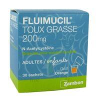 FLUIMUCIL EXPECTORANT ACETYLCYSTEINE 200 mg SANS SUCRE, granulés pour solution buvable en sachet édulcorés à l'aspartam et au sorbitol à St Jean de Braye