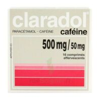 Claradol Cafeine 500 Mg/50 Mg, Comprimé Effervescent à St Jean de Braye