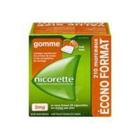Nicorette 2 Mg Gomme à Mâcher Médicamenteuse Sans Sucre Fruits Plq/210 à St Jean de Braye