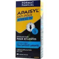 Apaisyl Anti-poux Xpress 15' Lotion antipoux et lente 100ml+peigne à St Jean de Braye