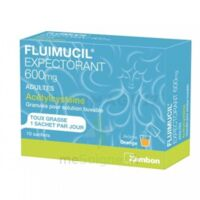 Fluimucil Expectorant Acetylcysteine 600 Mg Glé S Buv Adultes 10sach à St Jean de Braye