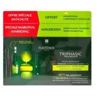René Furterer Triphasic Progressive Sérum Antichute Coffret 8 Flacons X 5,5ml + Shampoing Stimulant 100 Ml à St Jean de Braye